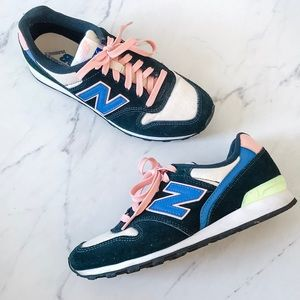 New Balance for J.Crew 696 Running Shoes Navy Pink